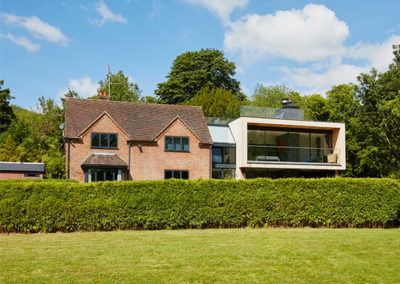 Riverside contemporary home extension in Streatley, Berkshire